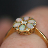 Opal & Diamond Vintage Ring by Ruby Gray's | Ruby Gray's Antique & Vintage Rings