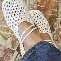 Mary Jane Slippers Crochet Strap (See description for discount count. Offer valid till midnight 20.3.2013)