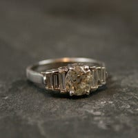 Art Deco Diamond Engagement Ring by Ruby Gray&#x27;s | Ruby Gray&#x27;s Antique &amp; Vintage Rings