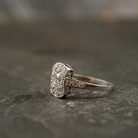 Unusual Art Deco Diamond Engagement Ring by Ruby Gray's | Ruby Gray's Antique & Vintage Rings