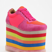 Jeffrey Campbell Rainbow Highlight Platform-Sneaker