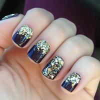 Gold Glitter Shinning Nail Lacquer 15ml [5038]