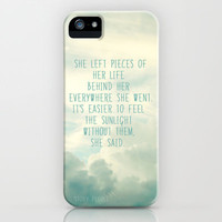 she left pieces of her life behind iPhone Case by Sylvia Cook Photography