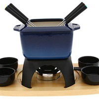 SWISSMAR MONT BLANC 15 PIECE CAST IRON MEAT FONDUE SET