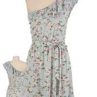 One Shoulder Ruffle Floral Print Dress - maurices.com