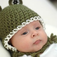 Green  Frog Hat Newborn and 03M by beliz82 on Etsy