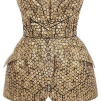 Alexander McQueen | Black/Gold Bee Honeycomb Bombe Hip Bustier