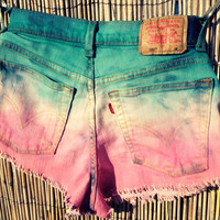 Vintage Levi&#x27;s Denim High Waisted Ombre Shorts / by UnraveledClothing