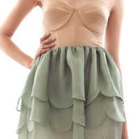 GARDEN BUTTERCUP LOVE Scalloped Bustier Mini by sugarweddings