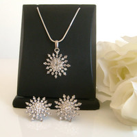 Rhinestone crystal wedding jewelry set wedding jewelry bridal jewelry set bridesmaid gifts