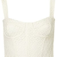 Lace Corset Style Crop Top - Topshop