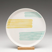 Striped Arrow Plate by dahlhaus on Etsy