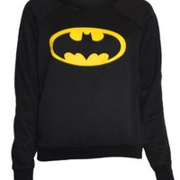Amazon.com: Womens Black Batman Sweater Top: Clothing