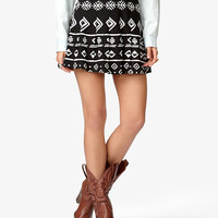 Tribal-Inspired Pleated Skirt