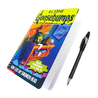 Goosebumps Notebook / Journal UpCycled R L Stine Shrunken Head 90s Horror