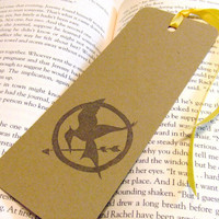 Hunger Games Mockingjay Pin Stamped Bookmarks by prettypetalspaper