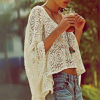 Lace Cropped Kaftan at Free People Clothing Boutique