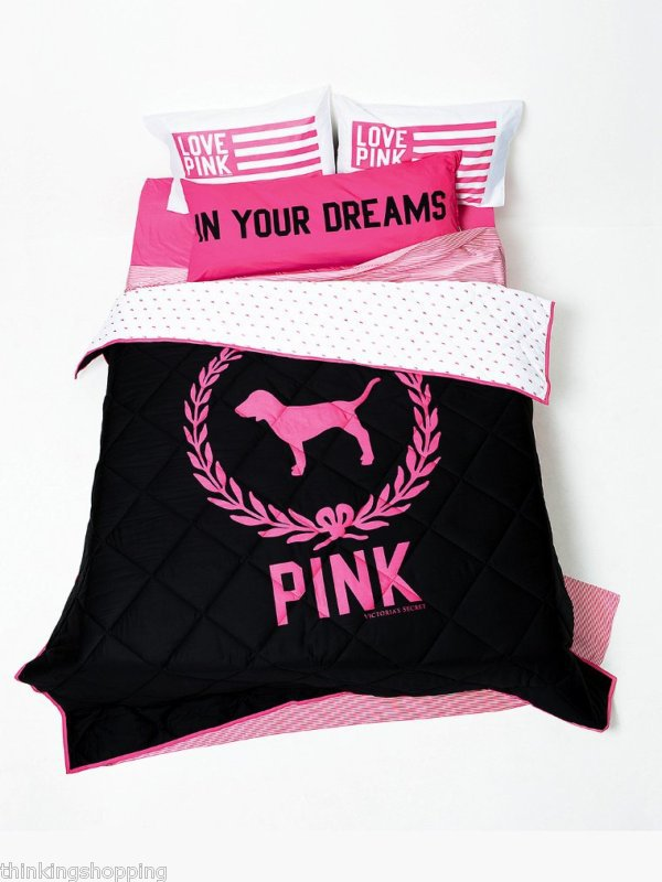 victoria secret love pink bedding quotes. Black Bedroom Furniture Sets. Home Design Ideas