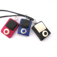 Ipod charm necklace polymer clay charms necklace by Mandyscharms
