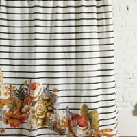 UrbanOutfitters.com > Striped Cabbage Rose Shower Curtain
