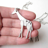 giraffe bff necklace set - best friends jewelry
