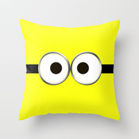 minion Throw Pillow by Cbrocoff