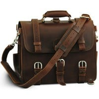 Amazon.com: A Chestnut Leather Briefcase, Backpack, Handbag &quot;They&#x27;ll Fight Over When You&#x27;re Dead&quot;: Shoes