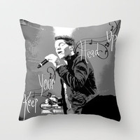 """Keep Your Head Up"" Andy Grammer Throw Pillow by Kayla Gordon 