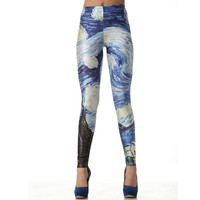 Van Gogh The Starry Night Leggings Pants
