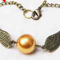 Golden Snitch Bracelet In BRASS Steampunk Golden by qizhouhuang