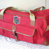 Wilson Gym Bag Cherry Red Vintage Duffle Bag