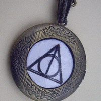 Deathly Hallows LOCKET NecklaceSALE by qizhouhuang on Etsy