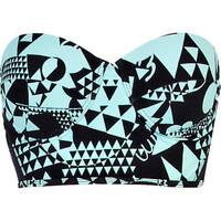 Aqua print bustier bikini top - bikinis - swimwear / beachwear - women