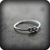 SALE - Infinity knot ring - recycled sterling silver ring - 20% off