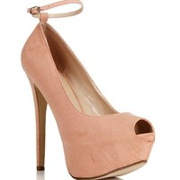 Blush Open Toe Pump
