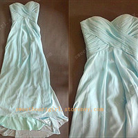 Simple Chiffon Long prom dress/graduation dresses