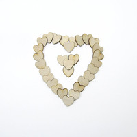 Small Wooden Hearts for Weddings Crafts by JourneyProductions