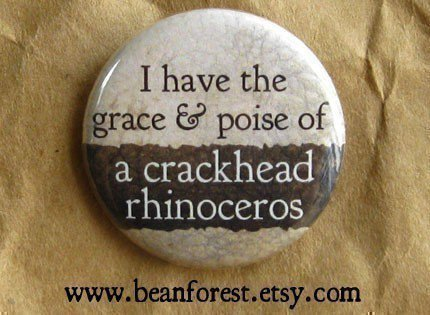 grace and poise of crackhead rhino by beanforest on Etsy