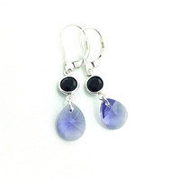 Tanzanite Earrings, Pendant Earrings, Pear Shaped Earrings, Purple Dangle Earrings, Easter Earring, Small Dangle