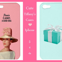 Iphone 5/4/4s Case-Tiffany Iphone 5 -Audrey Hepburn Iphone 5 -Iphone 5 case,Iphone 4/4s case,Iphone 5 cover,Iphone 4/4s cover-Iphone 5