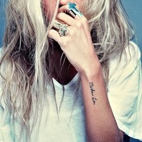 tattoo, hair, rings, color