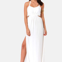 Aryn K Hail A Maxi Ivory Maxi Dress