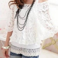 SEXY LACE SUMMER STYLE BLOUSE