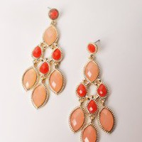 Apricot Jam Earrings | Peacock Plume
