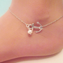 20 OFF SHOP SALE Little anchor anklet with by jmesjewelrybox