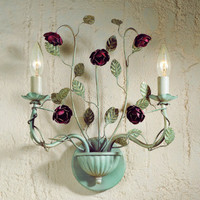 Laura Ashley Home WROS0275 English Rose 2 Light Wall Sconce | Capitol Lighting 1800lighting.com