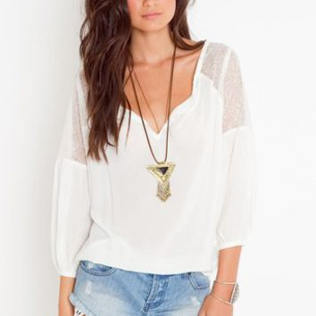 Jardin Lace Blouse in  Clothes at Nasty Gal