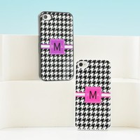 Houndstooth Personalized iPhone Cases - 4 Color Options