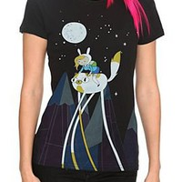 Adventure Time Fionna & Cake Night Ride Girls T-Shirt - 332599