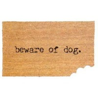 Boston Warehouse Beware Of Dog Doormat
